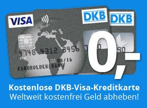 Mit der kostenlosen DKB Visa Kreditkarte weltweit kostenfrei Geldabheben