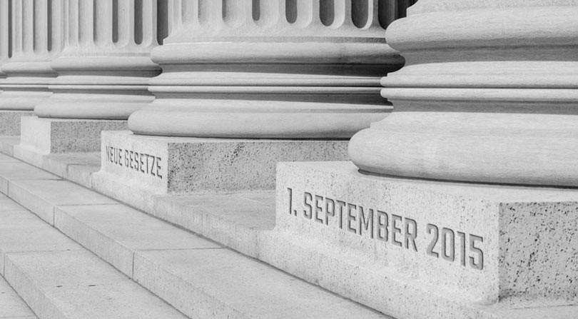 Neue Gesetze ab September 2015 in Deutschland